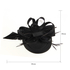AGF00224 - Black Feather Hair Fascinator