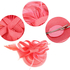 AGF00224 - Pink Feather Hair Fascinator