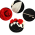 AGF00227 - Red / Black / Ivory Flower Hat Fascinator