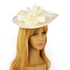 AGF00228 - Ivory Flower Mesh Hat Fascinator