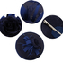 AGF00228 - Navy Flower Mesh Hat Fascinator