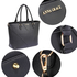 AG00518 - Black Anna Grace Tote Bag