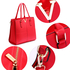 AG00420 - Red Split Design Tote Handbag