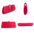 LSE00221 - Pink Satin Clutch Bag With Crystal Decoration