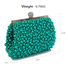 LSE00296 - Emerald Vintage Beads Pearls Crystals Evening Clutch Bag