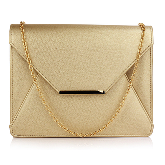 AGC00307A -  Gold Flap Clutch Purse