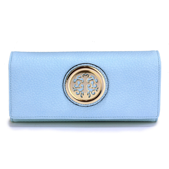 LSP1039A - Blue Purse/Wallet with Metal Decoration