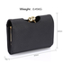 LSP1065A - Black Kisslock Clutch Wallet