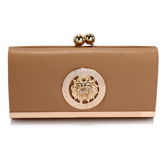 LSP1068A - Nude Kiss-Lock Purse/Wallet with Metal Decoration