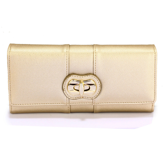 LSP1055A - Gold Twist Lock Purse/Wallet