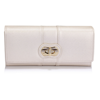 LSP1055A - Ivory Twist Lock Purse/Wallet