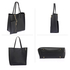 AG00549 - Black Tote Bag With Removable Pouch