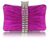 LSE0049 - Gorgeous Purple Sparkly Diamante Strip Clutch Evening Bag