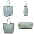 AG00548 - Blue Shoulder Bag With Silver Metal Work And Removable Pouch