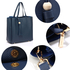 AG00550 - Navy Tassel Shoulder Handbag