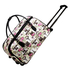 AGT0013 - Tower Print Travel Holdall Trolley Luggage With Wheels - CABIN APPROVED