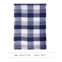 AGSC205 - Navy Women's Check Print Winter Scarf