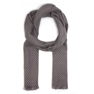 AGSC206 - Grey / Beige Women's Dotted Print Winter Scarf