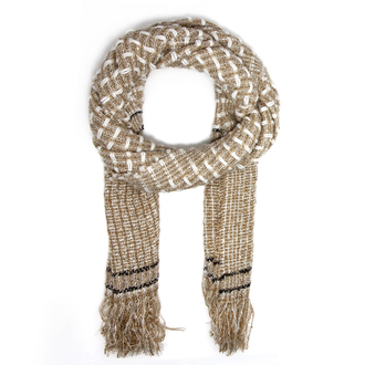 AGSC208 - Taupe Women's Texture Winter Scarf