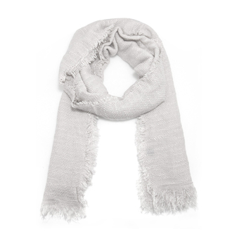 AGSC209 - White Women's Texture Winter Scarf
