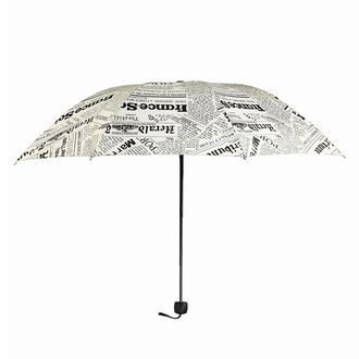 AGU0013 - Nude Newspaper Print Manual Open Umbrella