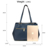 AG00526 - Navy Women's Front Pockets Tote Bag