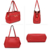 AG00526 - Red Women's Front Pockets Tote Bag
