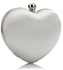 LSE0060 - White Diamante Hardcase Heart Clutch Bag