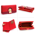 AGP1092B - Red Twist Lock Crocodile Purse/Wallet With Tassel