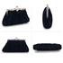 AGC00346 - Navy Crystal Evening Clutch Bag
