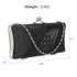 LSE0062 - Black Satin Evening Clutch Bag