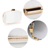 AGC00354 - Ivory Satin Evening Clutch Bag