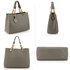 AG00536A - Grey Women's Tote Shoulder Bag