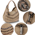 AG00554 - Nude Women's Hobo Shoulder Bag