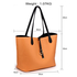 AG00567 - Reversible Black/Nude Large Tote Bag - Fits laptops up to 15.4''