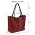 AG00567 - Reversible Black/Burgundy Large Tote Bag - Fits laptops up to 15.4''