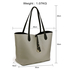 AG00567 - Reversible Black/Grey Large Tote Bag - Fits laptops up to 15.4''