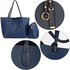AG00567 - Reversible Navy/Grey Large Tote Bag - Fits laptops up to 15.4''