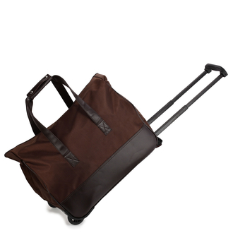AGT0018 - Coffee Travel Holdall Trolley Luggage With Wheels - CABIN APPROVED