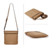 AG00587 - Nude Cross Body Shoulder Bag
