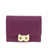 AGP1090 - Purple Purse/Wallet With Gold Metal Work