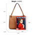 AG00570 - Brown Anna Grace Fashion Tote Handbag