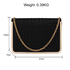 AGC00369 - Black Flap Evening Clutch Bag