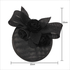 AGF00238 - Black Flower Mesh Hat Fascinator