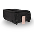 AGT0015 - Black Travel Holdall Trolley Luggage With Wheels - CABIN APPROVED