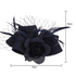 AGF00237 - Navy Flower Mesh Feather Fascinator