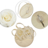 AGF00240 - Ivory Flower Mesh Feather Hat Fascinator