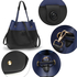 AG00190B - Wholesale & B2B Black / Blue Hobo Shoulder Bag Supplier & Manufacturer