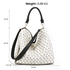 AG00573P - Anna Grace White Hobo Shoulder Bag