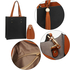 AG00594 - Black / Brown Fashion Tote Bag With Tassel